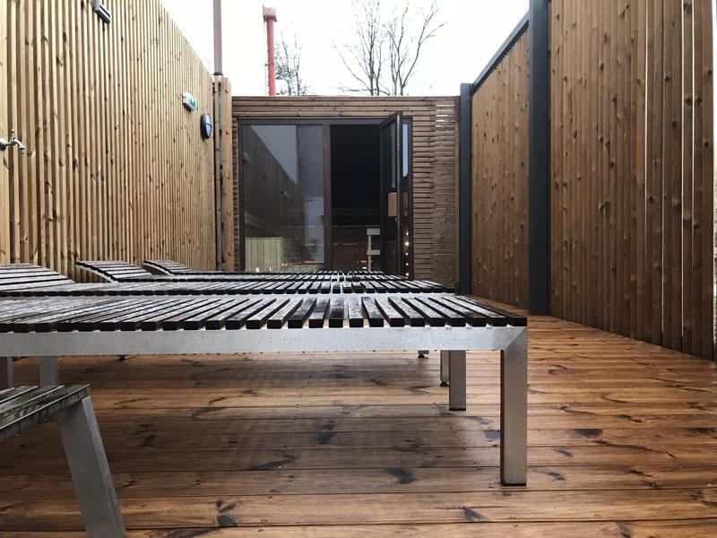 Sauna s venkovní ochlazovnou